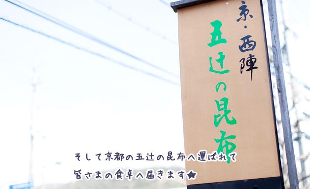 そして京都の五辻の昆布へ運ばれて皆様の食卓へ届きます